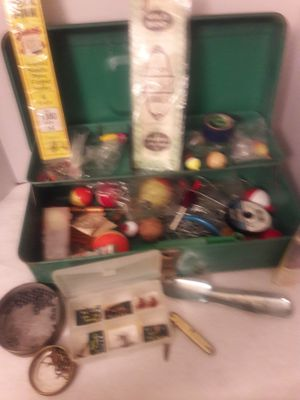 Vintage Liberty Steel chest with assorted fishing supplies included for Sale in Mesa, AZ