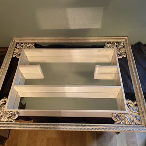 Vintage Turner Wall Decor Antique White Wood Shadow Box Mirrored Shelf for Sale in Buffalo, NY