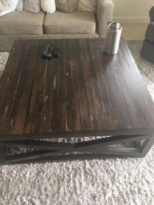 Brown (real)wood coffee table for Sale in Alexandria, VA