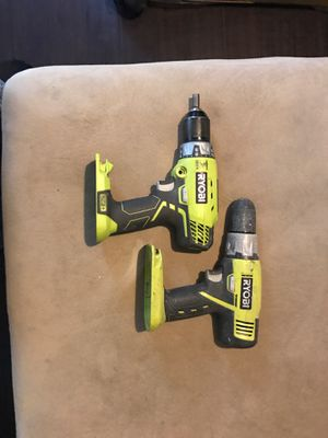 Ryobi hammer drill and regular driver for Sale in Columbia, PA