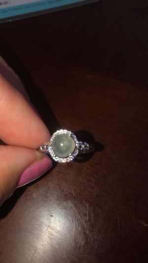 925 sterling silver jade ice color A grade cabochon ring size 9 for Sale in Suisun City, CA