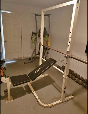 Squat and Bench Rack w/ Adjustment for Sale in Winter Haven, FL