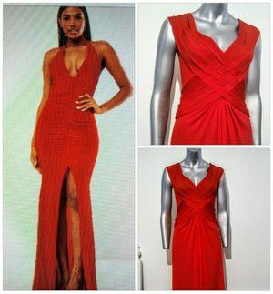 Red - Vavoom Long V-neck Spit slit Glamour dress, Size Sm for Sale in Whittier, CA