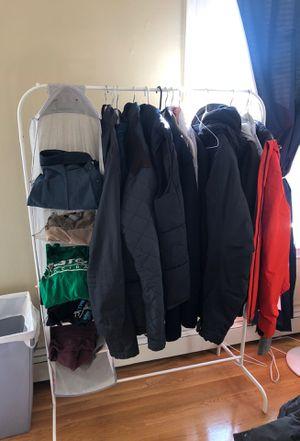 Metal Rack with 5-shelf organizer- Portable Closet!!! for Sale in Cambridge, MA