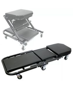 Foldable Z Creeper Seat Rolling Chair Auto Mechanics Shop Garage Work Stool BLK for Sale in Hacienda Heights,  CA