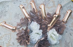 Fake rose gold and white flowers for Sale in Carson, CA