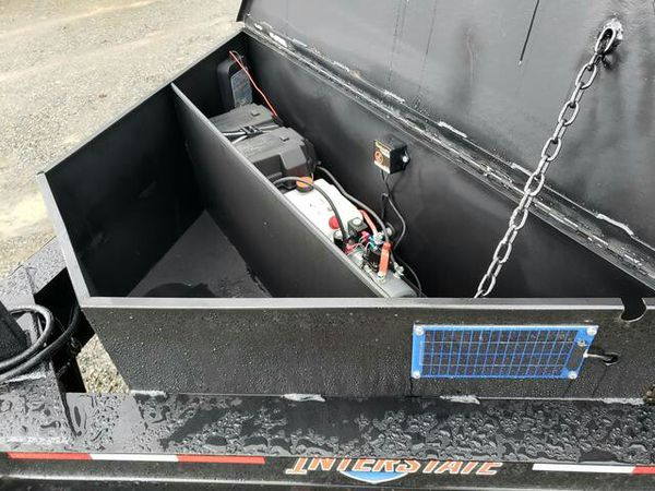 7X12 Interstate Bumper Pull Dump Tandem Axle Trailer 14k