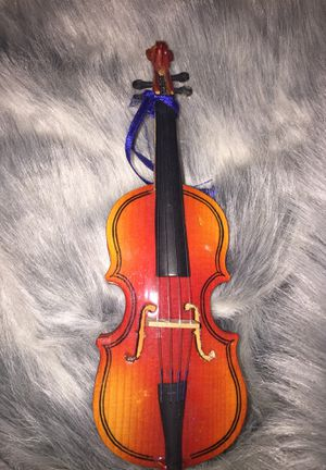Doll play violin with case and stand for Sale in Newtown Square, PA