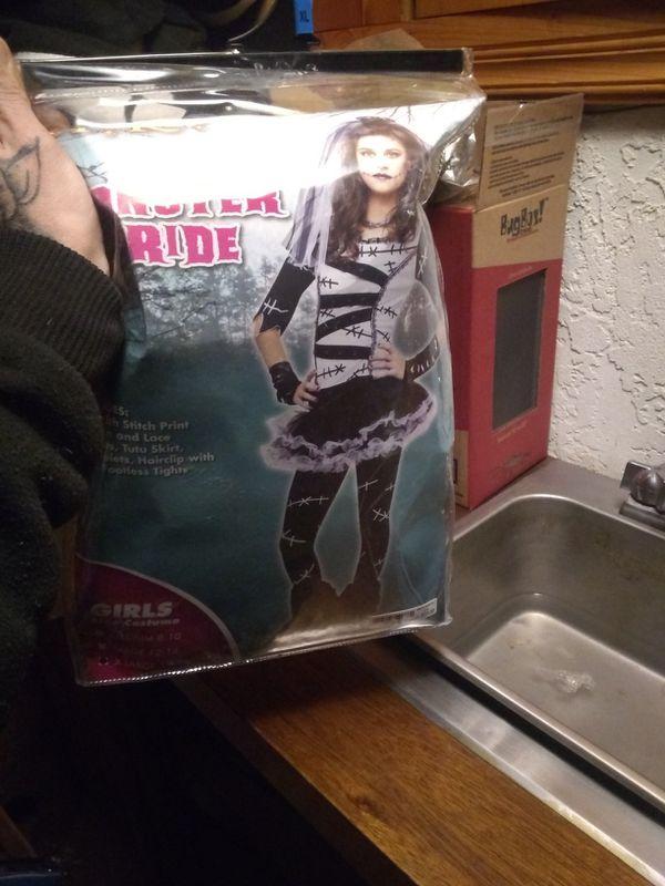 Girls monster bride costume