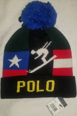 Polo Ralph Lauren Skier Hat $145NWT beanie usa flag suicide ski p vtg sportsman for Sale in Queens, NY