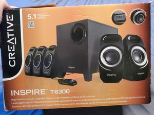Creative Inspire T6300 5.1 Sound System for Sale in San Gabriel, CA
