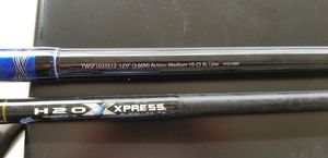 2 surf fishing poles. H20 Express 12ft and Shakespere Tidewater 12ft for Sale in San Antonio, TX