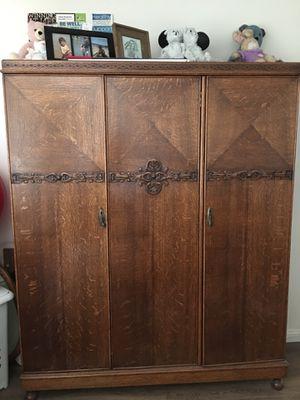 Triple Door Armoir/Antique for Sale in Huntington Beach, CA