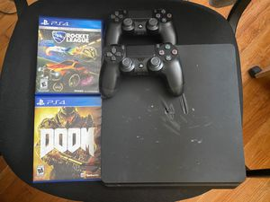 PS4 Slim w/ 2 Controller's & 2 Games for Sale in Lake Worth, FL
