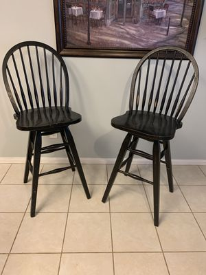 Wooden bar stools for Sale in Magnolia, TX