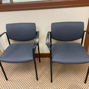 Office Chairs Fabric 2 at $25 Ea Sturdy for Sale in Des Plaines, IL