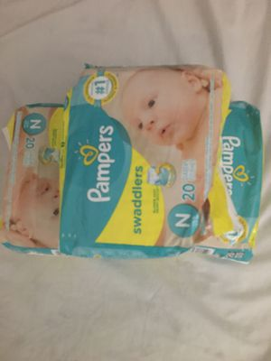 3- 20 pk of NEWBORN diapers for Sale in Nashville, TN