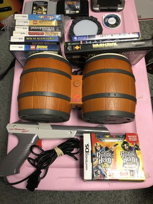 Lot of video games/accessories Guitar Hero PS2 PS3 wii Nintendo DS N64 Atari 5200 & More! for Sale in Philadelphia, PA