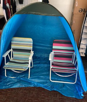 Beach Tent Pop Up (beach chairs not included) for Sale in Claremont, CA