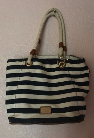 Michael Kors Large Striped Nautical Style Purse for Sale in Upland, CA