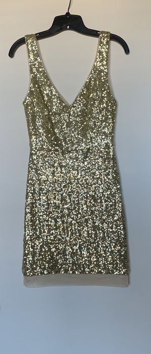 Gold sequin dress size 4 womens for Sale in Tigard, OR