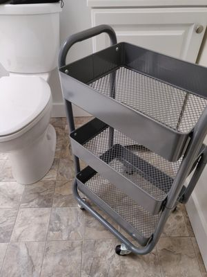 Gray bathroom/kitchen cart for Sale in Portland, OR