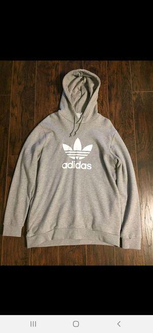 Grey Adidas Hoodie- Mens large for Sale in Alafaya, FL