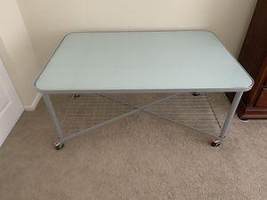 IKEA glass top desk. for Sale in Joliet, IL
