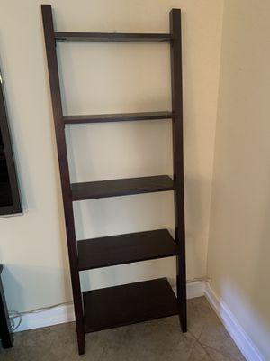 Espresso colored ladder shelves and tv console for Sale in Pompano Beach, FL