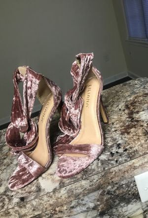 Forever 21 Pink Velvet lace up heels for Sale in Washington, DC