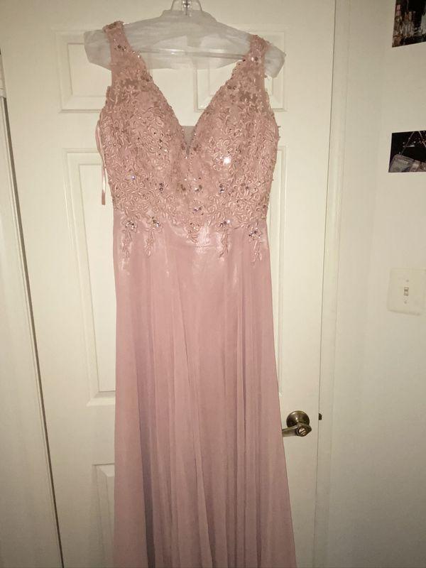 Blush Long Evening Dress (Prom,Dinner,Wedding etc)