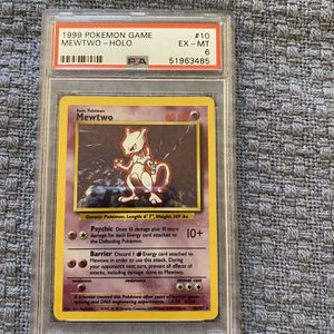 1999 Pokemon Game 10 Mewtwo Halo Mint - PSA 6 for Sale in Costa Mesa, CA