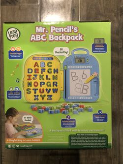 Leap Frog Mr. Pencil's ABC Backpack for Sale in Olympia,  WA