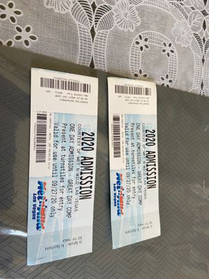 2 tickets for wet and wild valid until 09/27/2020 $25 each for Sale in Las Vegas, NV