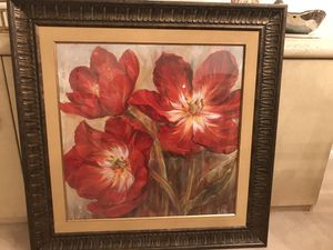 "Framed flower painting 38 1/4 ""wide 38 1/4 tall for Sale in Herndon, VA"