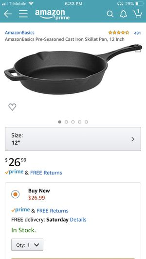 Cast Iron Skillet Pan for Sale in Los Angeles, CA