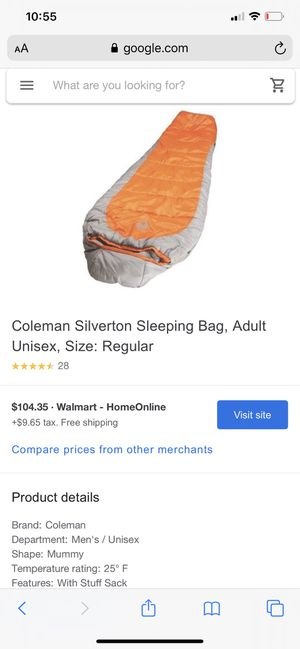 Coleman Sleeping Bag for Sale in Cupertino, CA