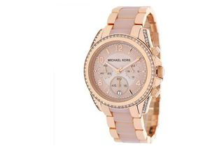 Michael Kors Women's Chronograph Blair Rose Gold Tone Glitz Watch for Sale in Naval Academy, MD