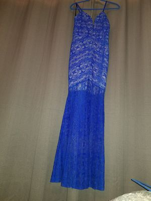 Agaci cobalt blue formal dress size L/LG/Large (NEW) for Sale in San Antonio, TX