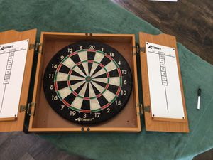 Accudart Heritage Dartboard and Cabinet Set for Sale in Chandler, AZ