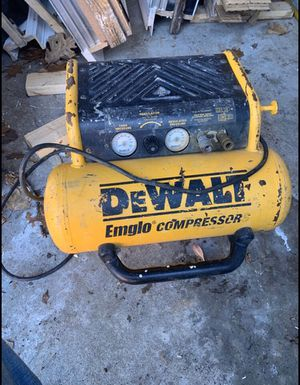 Good working Dewalt Compressor for Sale in Boston, MA