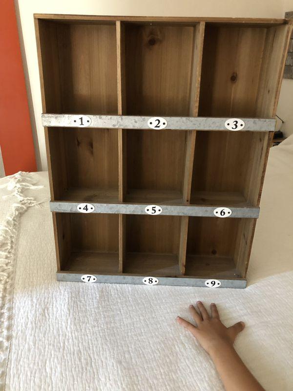 Decorative cubby shelf