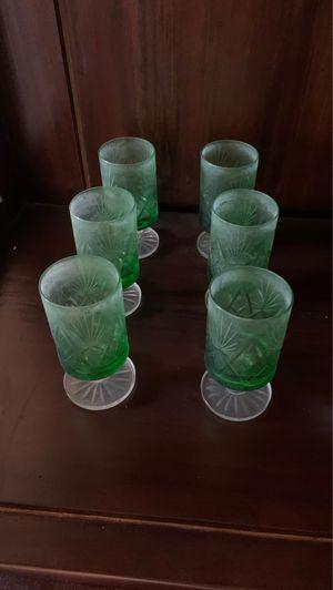 Set of 12 green glasses for Sale in Miami, FL