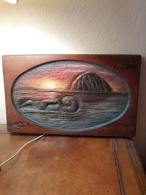Handcarved Morro Bay Rock with otter for Sale in Atascadero, CA