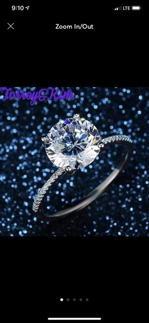 3 carat diamond engagement/marriage/anniversary/promise ring for Sale in Terre Haute, IN