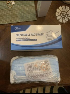 DISPOSABLE BLUE FACE MASK 3 PLY for Sale in Los Angeles, CA