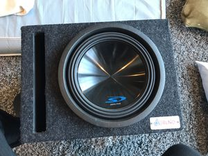 "Alpine Type-S 10"" Subwoofer w/ ported speaker box for Sale in Gainesville, VA"