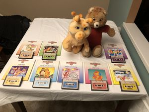 Teddy Ruxpin and Grubby with 8 books and matching cassettes for Sale in St. Peters, MO