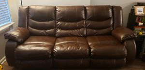 Like-new Brown Leather Couch for Sale in Rockville, MD