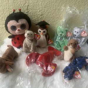 LOT OF 9 TY BEANBAG PLUSH BEANIE BABIES WITH TAGS for Sale in Miami, FL